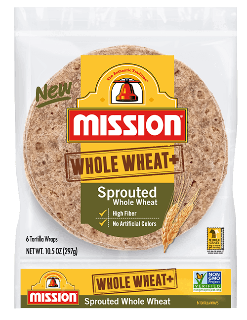 Whole Wheat+ Sprouted Whole Wheat Tortilla Wraps