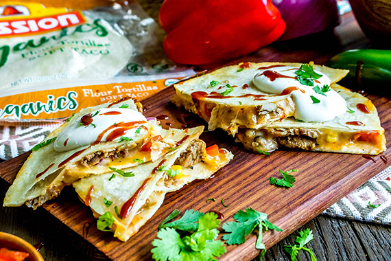BBQ Pork Quesadillas Recipe Image