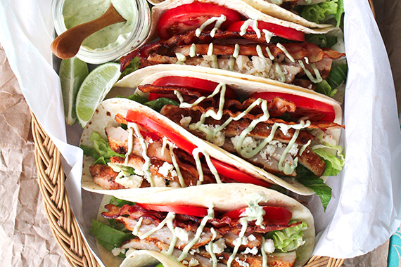 BLT Grilled Chicken Tacos Recipe Image