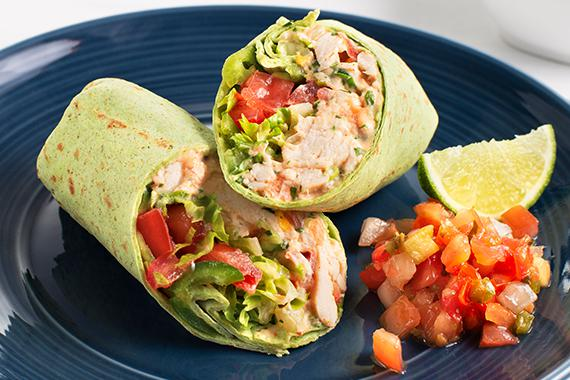 Low Carb Baja Chicken Salad Wraps Recipe Image