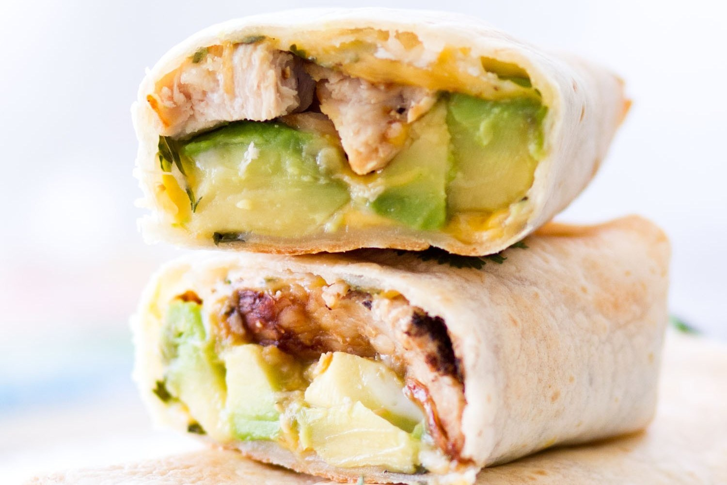 Baked Avocado Chicken Burritos Recipe Image