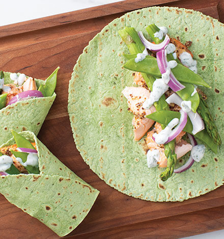 Thumbnail for Gluten Free Spinach Herb Tortilla Wraps