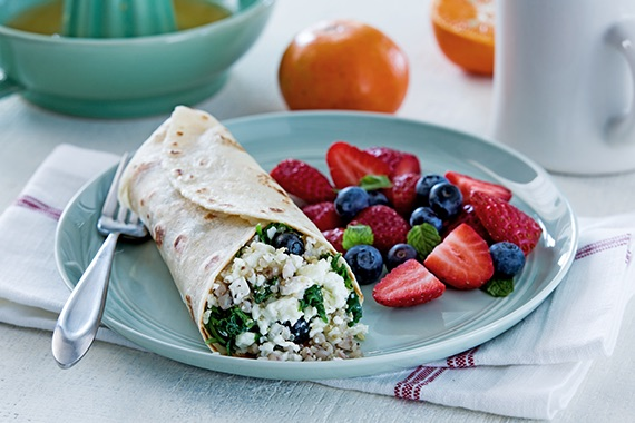 Vegetarian Breakfast Grains Salad Burritos Recipe Image