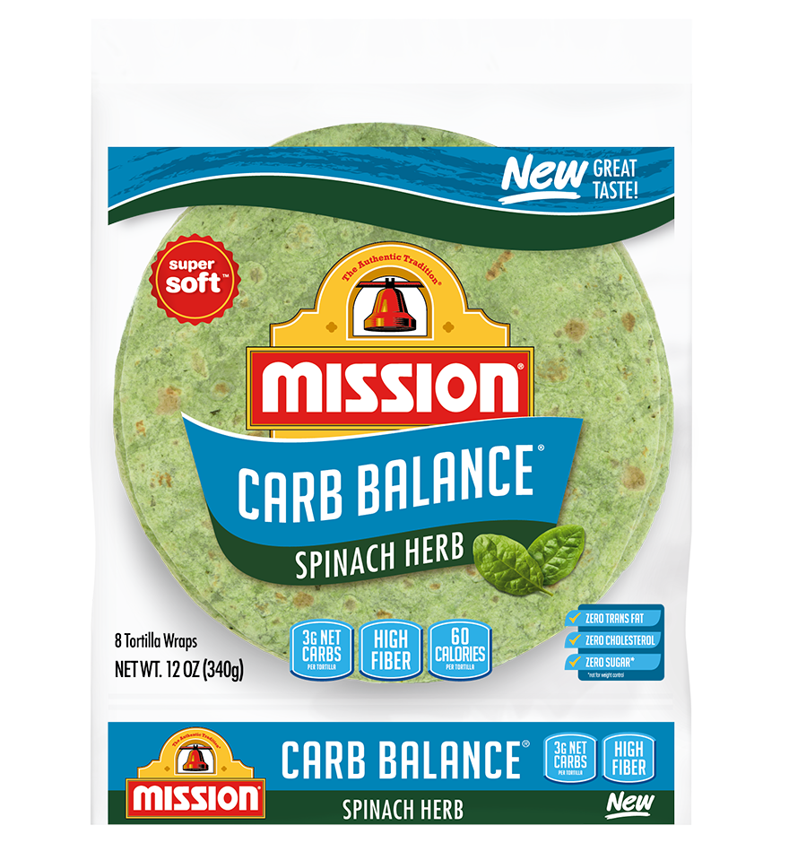 An image of Carb Balance Spinach Wraps