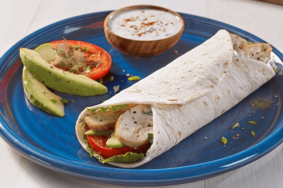 Chicken Avocado Ranch Wraps Recipe Image