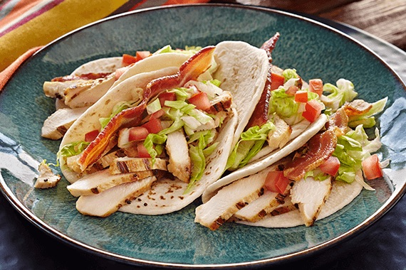 Chicken Club Tacos Recipe Image