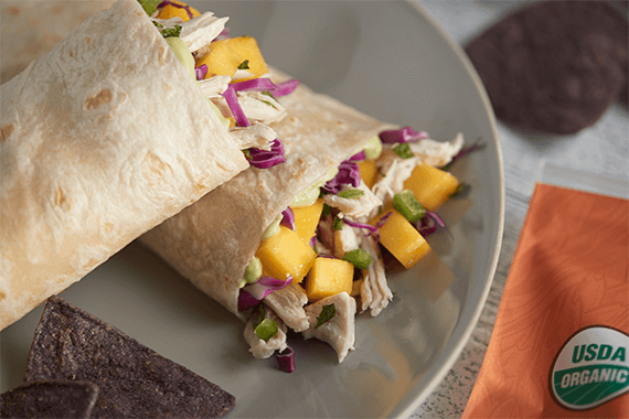 Chicken Mango Wraps Recipe Image