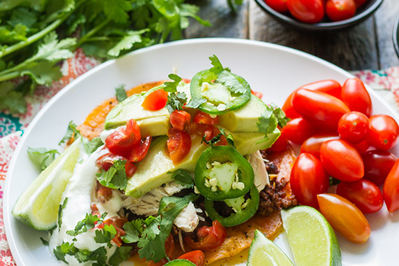 Chorizo & Chicken Tostadas Recipe Image