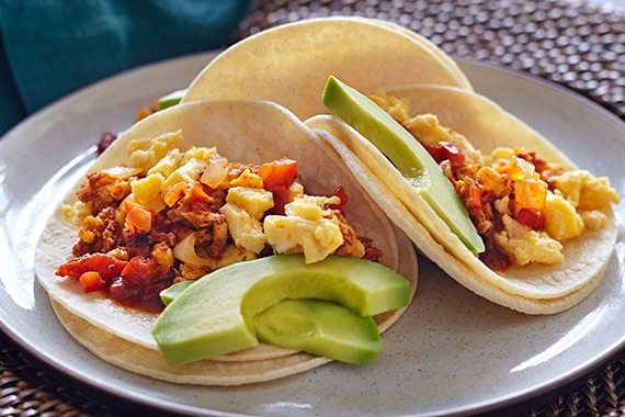 Chorizo and Egg Street Tacos Recipe Image