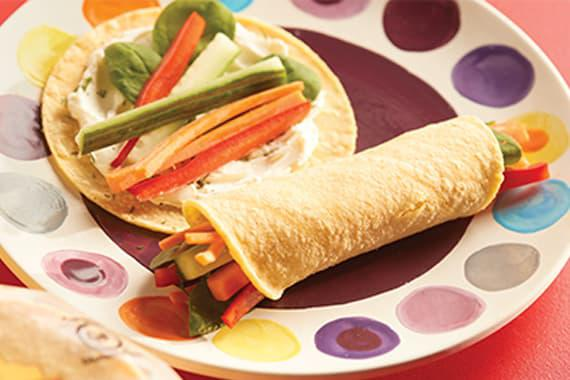 Cream Cheese and Veggie Wrap Recipe Image