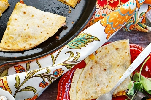Easy BBQ Chicken Quesadillas Recipe Image
