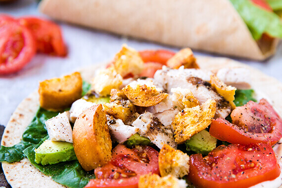 Easy Low Carb Italian Chicken Wraps Recipe Image