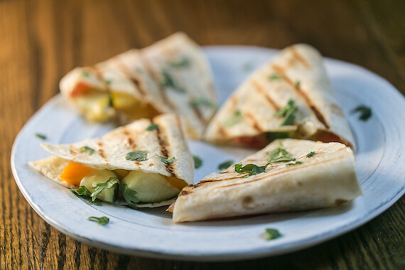 Fresh Vegetable Quesadillas Recipe Image
