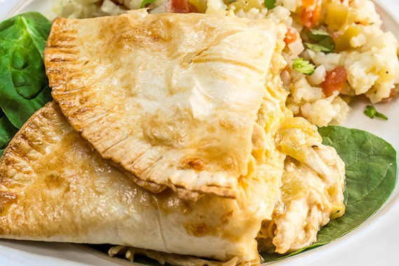 Green Chile Chicken Empanadas Recipe Image