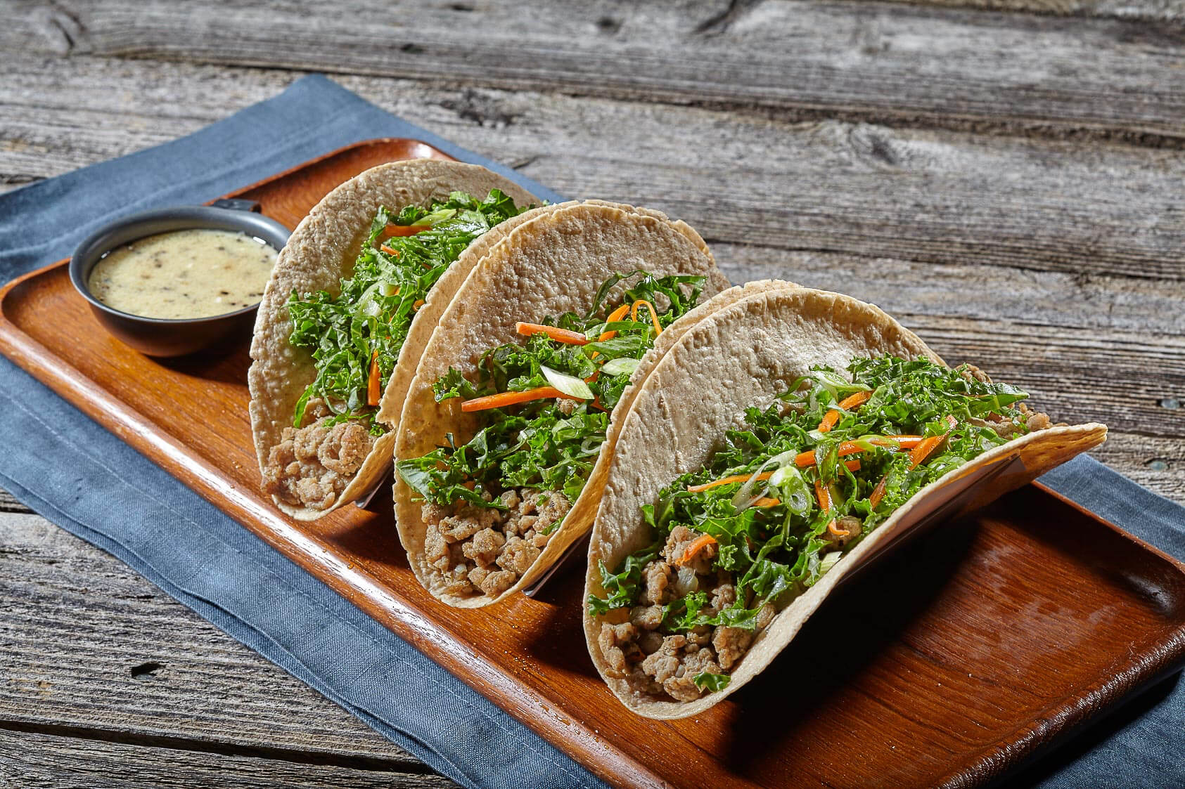 Ground Turkey Tacos with Kale Slaw Recipe Image