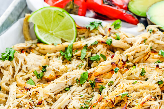 Instant Pot Mojo Chicken Tacos Recipe Image