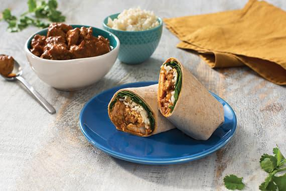 Keto-Friendly Coconut Butter Chicken Wrap Recipe Image