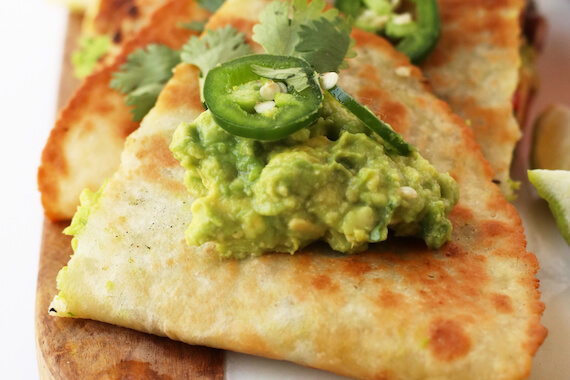 Loaded Vegan Quesadillas Recipe Image