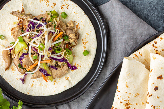 Low Carb Moo Shu Pork Tacos Recipe Image