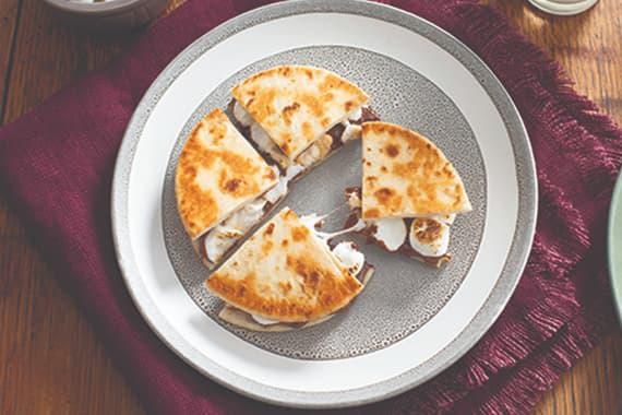 Mexican Chocolate S'mores Quesadilla Recipe Image