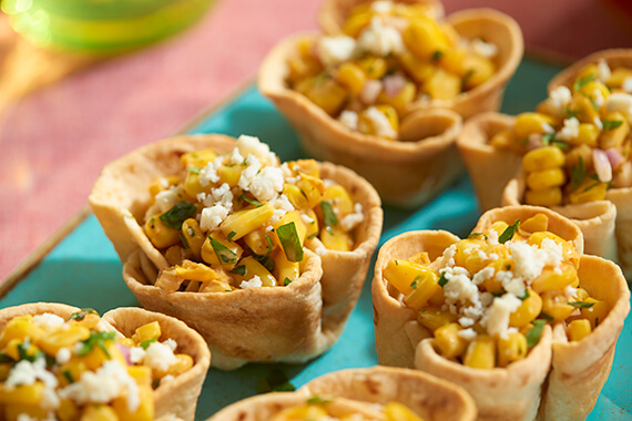 Mexican Corn Salad Cups