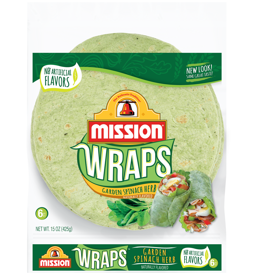 Garden Spinach Wraps