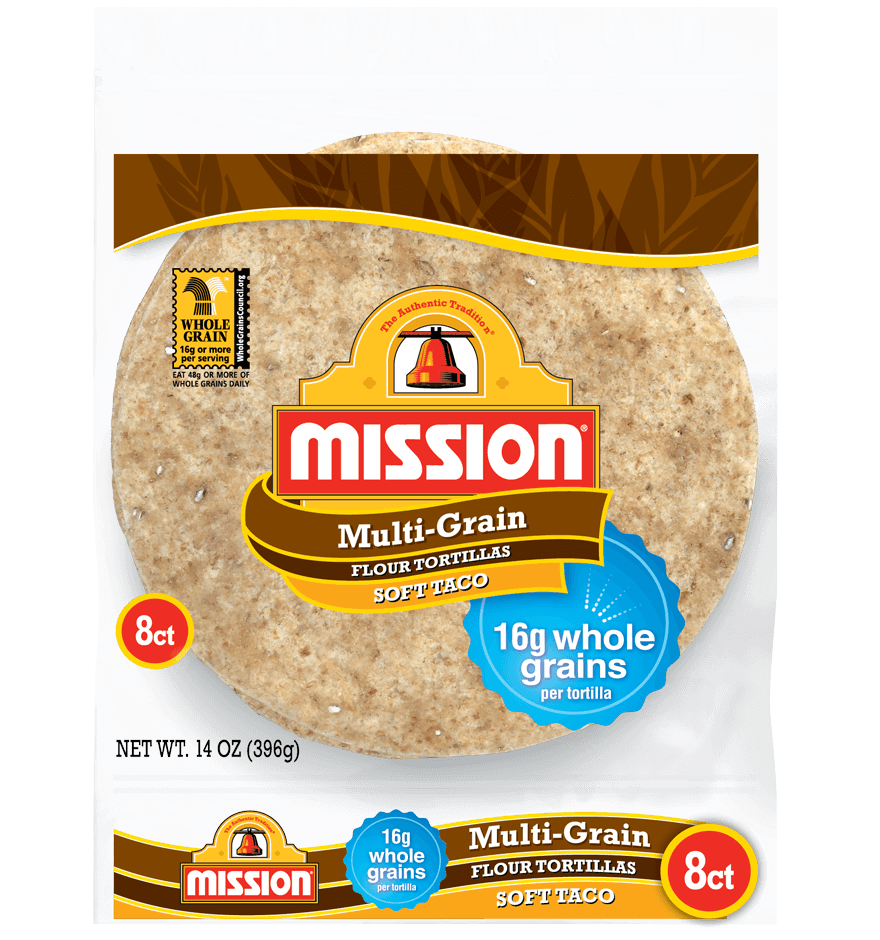 Thumbnail for Multigrain Soft Taco Flour Tortillas