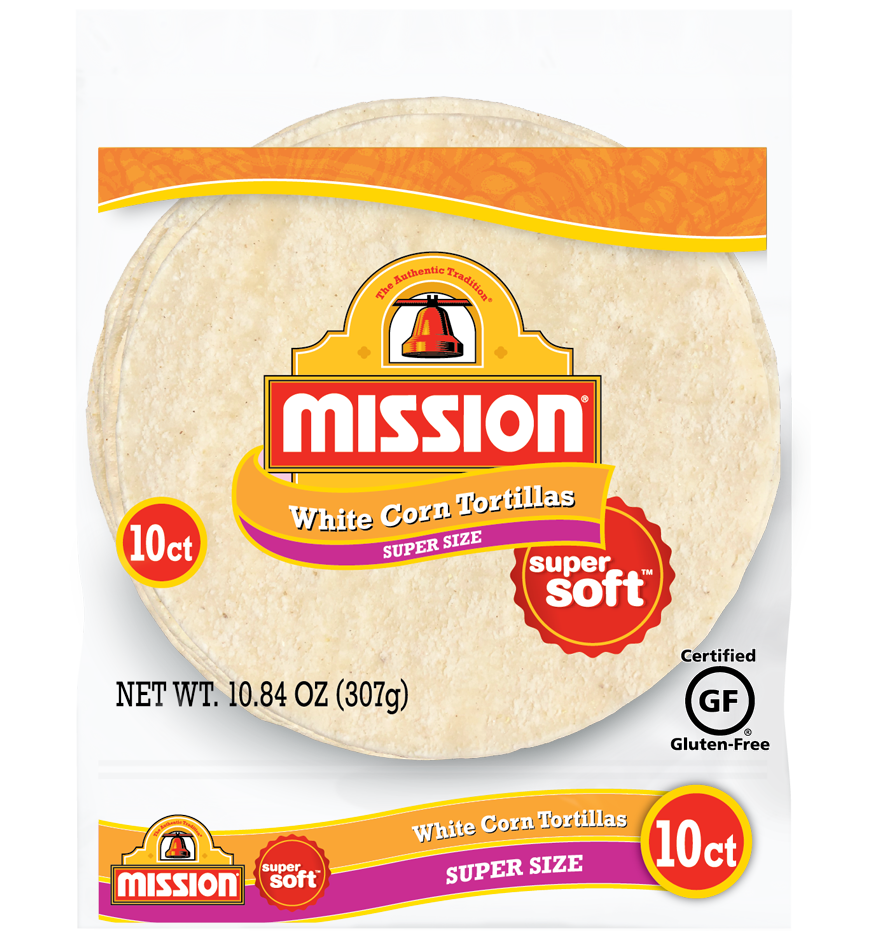 Super Size White Corn Tortillas