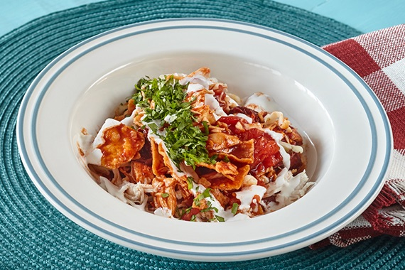 Spicy Chicken Chilaquiles Recipe Image