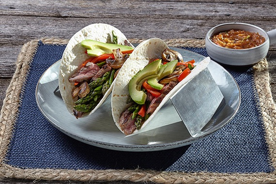 Mixed Veggie and Steak Tacos Recipe Image