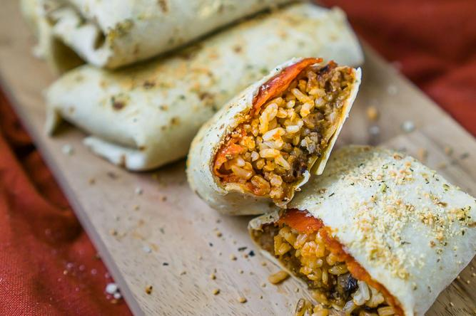 Easy Baked Pizza Burritos Recipe Image