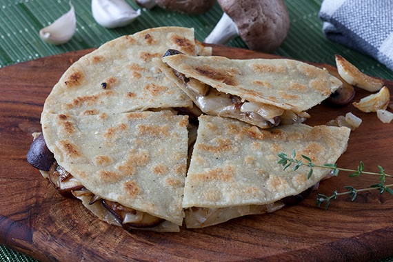 Portobello Mushroom Quesadillas Recipe Image