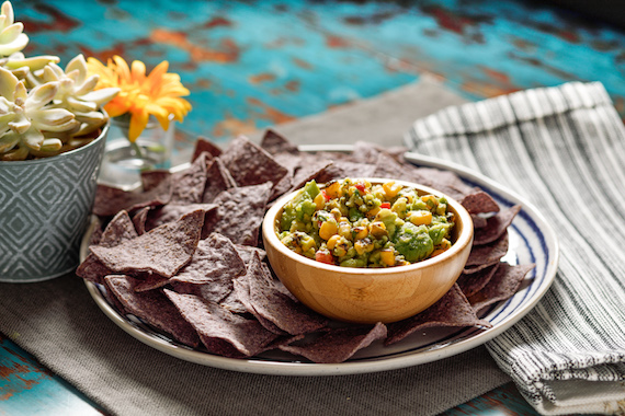 Roasted Poblano and Corn Guacamole Recipe Image