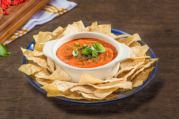 Quick Roasted Red Pepper Dip Recipe Image