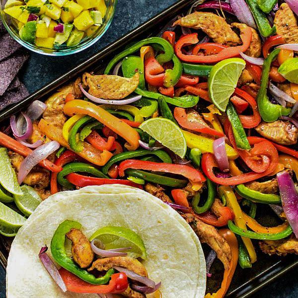 Sheet Pan Chicken Fajitas Recipe Image