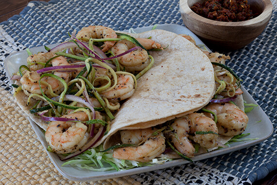 Shrimp & Zucchini Tacos Recipe Image