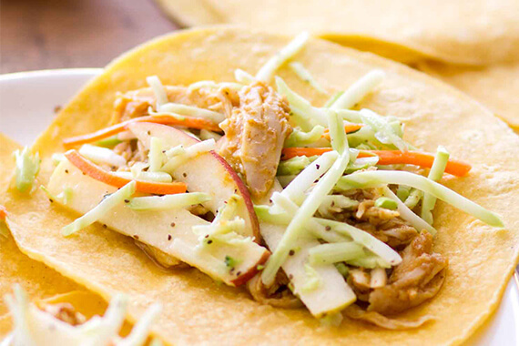Slow Cooker Pumpkin Butter Chicken Tacos Recipe Image