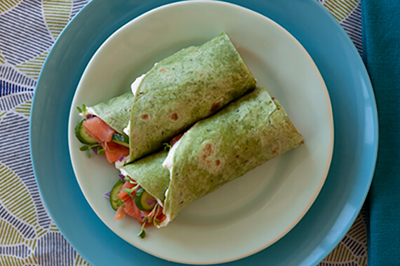 Smoked Salmon Wraps Recipe Image