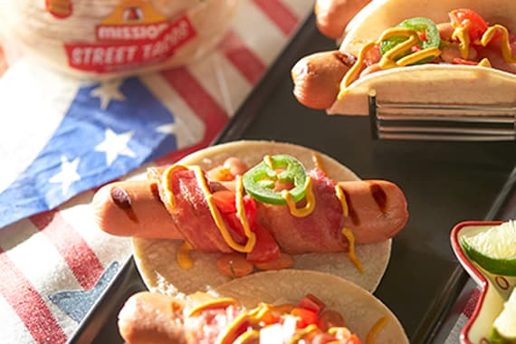 An image of Sonoran Hot Dog Tacos