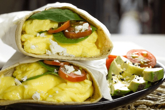 Spinach Scramble Wraps Recipe Image