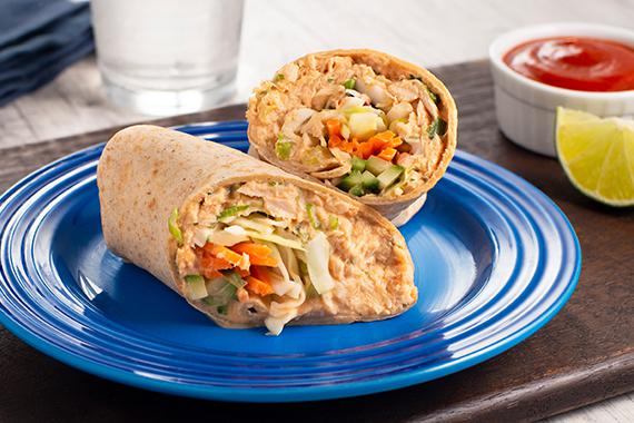 Sriracha Tuna Wraps Recipe Image