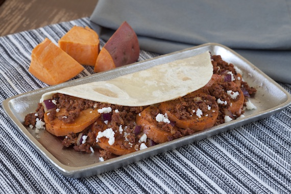 Sweet Potato and Longaniza Tacos Recipe Image