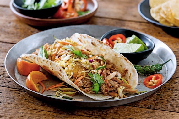 Sweet and Spicy Pork Tacos Recipe Image