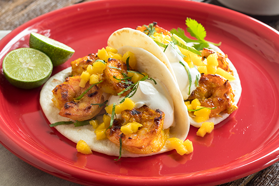 Tandoori Shrimp Tacos Recipe Image