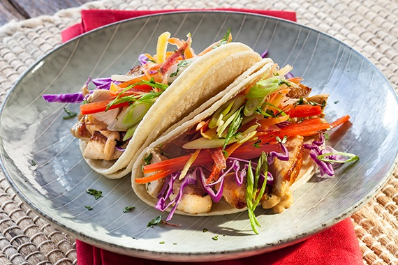 Thai Chicken Tacos with Peanut Sauce Recipe Image