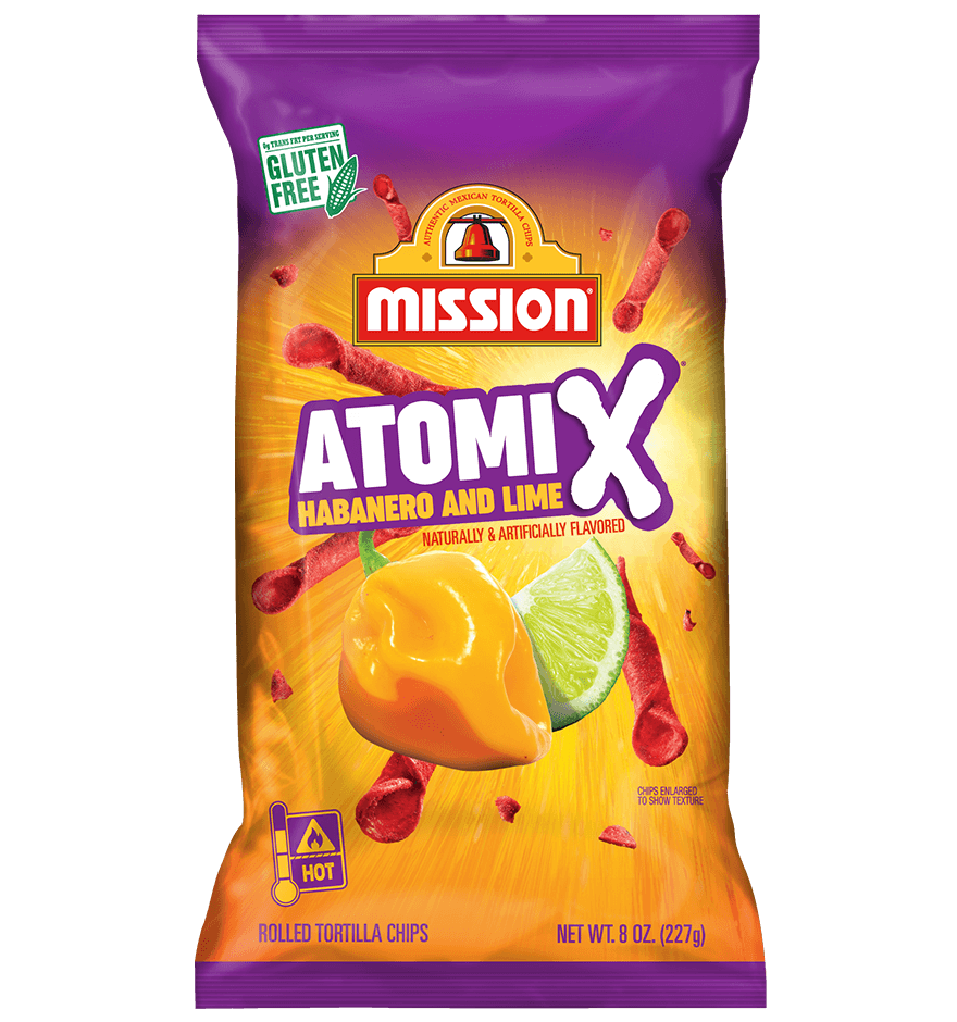 ATOMIX Habanero & Lime Rolled Tortilla Chips