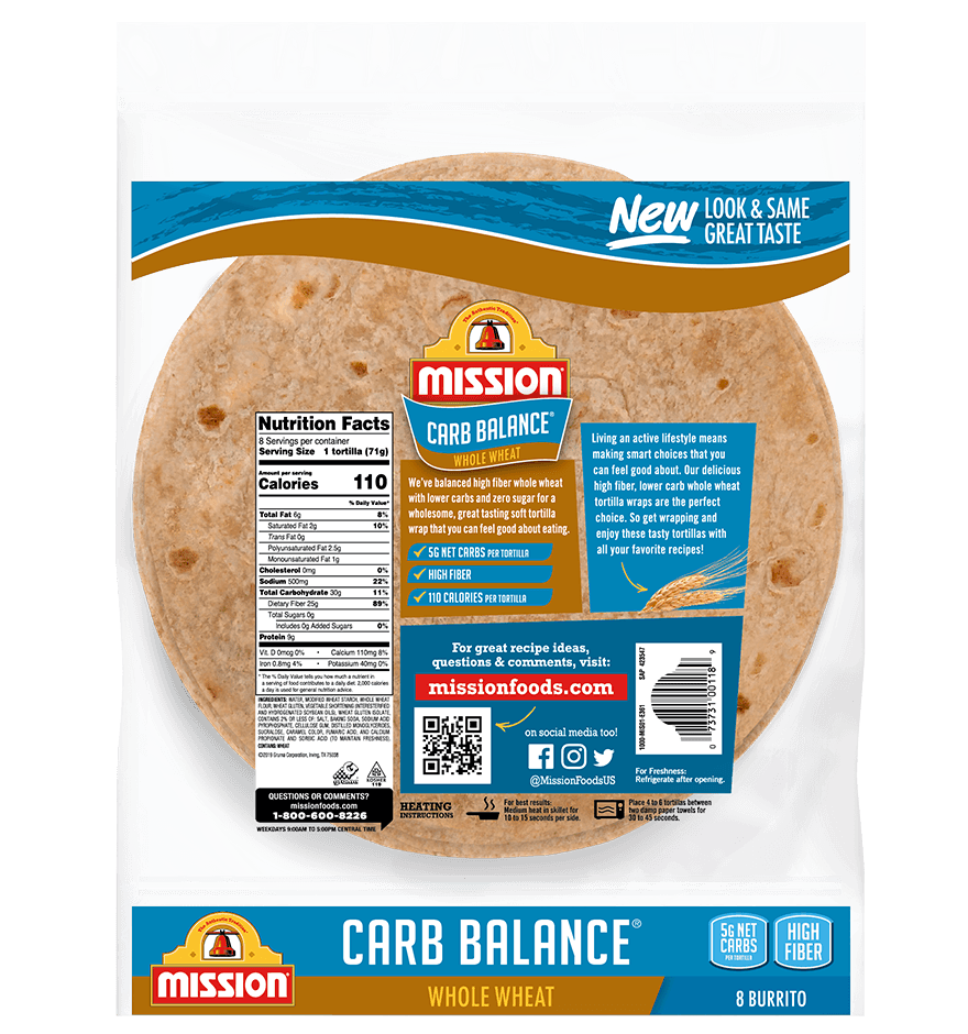 Thumbnail for Carb Balance Burrito Whole Wheat Tortillas