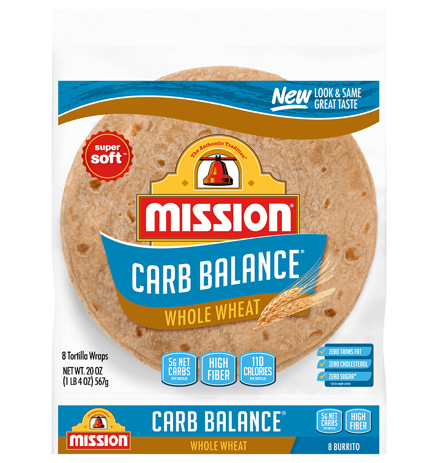 Carb Balance Burrito Whole Wheat Tortillas
