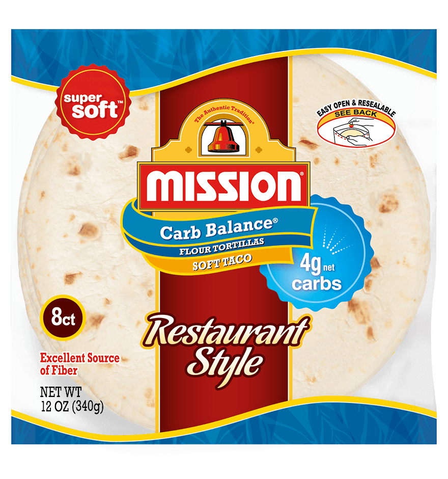 Thumbnail for Carb Balance Soft Taco Restaurant Style Flour Tortillas