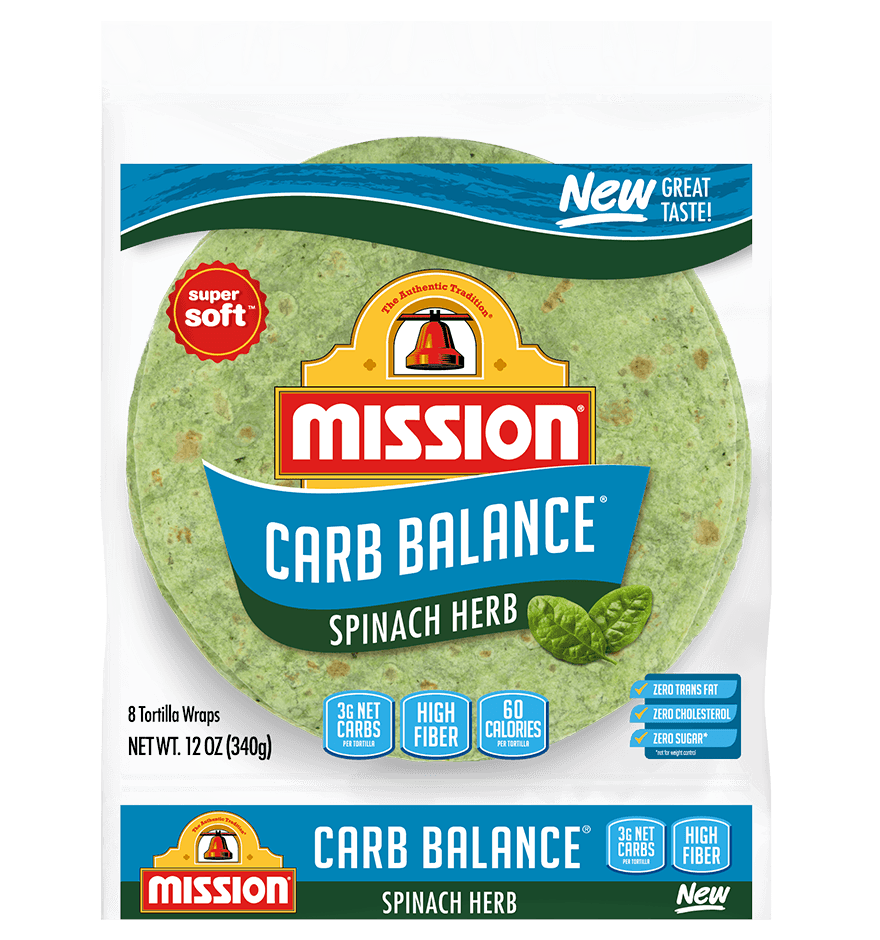Carb Balance Spinach Wraps